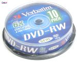 Диск DVD+RW Verbatim 4.7Gb/4x