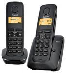 DECT телефон Siemens Gigaset A120 DUO телефонная книга на 50 контактов CLIP, АОН Чёрный 2 трубки в комплекте