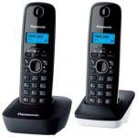 Телефон DECT Panasonic KX-TG1612RUH (серый, 2 трубки)