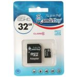 Карта памяти Micro SDHC 32GB Class 10 Smart Buy (с адаптером SD)