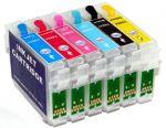 Перезаправляемые картриджи для Epson P50/PX700W (Hi-Black) пустые Bk T0801