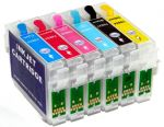 Перезаправляемые картриджи для Epson P50/PX700W (Hi-Black) пустые CL T0805