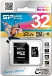 Карта памяти Micro SDHC 32GB Class 10 Silicon Power SP032GBSDH010V10