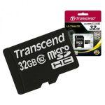 Карта памяти Micro SDHC 32GB Class 10 Transcend
