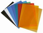 Обложки ПВХ А4, 0,18мм, прозрачные/красные (100)