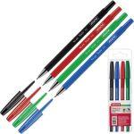 Набор шариковых ручек Attache Style (толщина линии 0.5 мм, 4 штуки: зеленая, синяя, черная, красная)